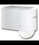 Senzor de miscare,detectie cu infrarosu,montare perete exterior,300grade,alb