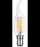 Bec LED Filament,4 w,B15,lumina calda,bulb sticla tip flacara lumanare
