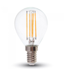 Bec LED Filament,4 w,E14,lumina calda,bulb sticla P45,DIMABIL