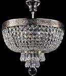 Candelabru Diamant crystal Palace 4 becuri dulie normala E27 230V Diam 30cm H35cm Nichel
