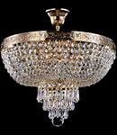 Candelabru Diamant Crystal Palace 5 becuri dulie normala E27 230V Diam. 40cm, H43 cm,Auriu