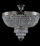 Candelabru Diamant Crystal Palace 5 becuri dulie normala E27 230V Diam. 40cm, H43 cm,Nichel