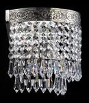 Aplica Diamant Crystal Palace 1 bec,dulie E27,230V,Diam. 17cm ,H18cm,Nichel