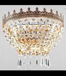 Aplica Diamant Crystal Tiara,1 x E14, 230V, D.23cm,H.14 cm,Auriu