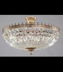 Candelabru Diamant Crystal Tiara 6 becuri dulie E14, 230V,D.54cm, H.37 cm,Auriu