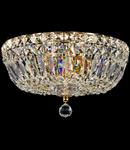 Candelabru Diamant Crystal Basfor 3 becuri dulie E14, 230V,D.30cm, H.20 cm,Auriu