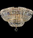 Candelabru Diamant Crystal Basfor 12 becuri dulie E14, 230V,D.46cm, H.32 cm,Auriu