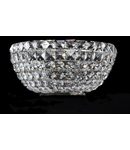 Aplica Diamant Crystal Basfor,2 x E14, 230V, D.25cm,H.12 cm,Nichel