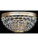Aplica Diamant Crystal Ottilia,2 x E14, 230V, D.25cm,H.13 cm,Auriu