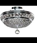 Candelabru Diamant Crystal Ottilia,6 becuri dulie E14, 230V,D.43cm, H.26 cm,Nichel
