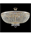 Candelabru Diamant Crystal Bella,8 becuri dulie E14, 230V,D.60cm, H.41 cm,Auriu