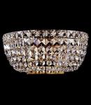 Aplica Diamant Crystal Basfor,2 x E14, 230V, D.25cm,H.12 cm,Auriu