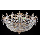 Candelabru Diamant Crystal Versalilles,5 becuri dulie E14, 230V,D.52cm, H.35 cm,Auriu
