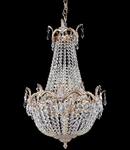 Candelabru Diamant Crystal Versalilles,6 becuri dulie E14, 230V,D.40 cm, H.60 cm,Auriu