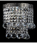 Aplica Diamant Crystal Gala,1 x E14, 230V, D.16cm,H.17 cm,Nichel