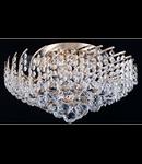 Candelabru Diamant Crystal Karolina,6 becuri dulie E27, 230V,D.41cm, H.24 cm,Auriu