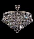 Candelabru Diamant Crystal Gala,6 becuri dulie E27, 230V,D.38cm, H.38 cm,Nichel