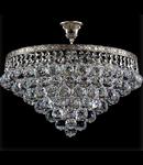 Candelabru Diamant Crystal Gala,6 becuri dulie E27, 230V,D.46cm, H.40 cm,Nichel