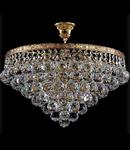 Candelabru Diamant Crystal Gala,6 becuri dulie E27, 230V,D.46cm, H.40 cm,Auriu