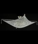 Candelabru Diamant Crystal Croce,8 becuri dulie E27, 230V,L.80cm, H.30 cm,Nichel