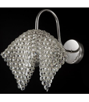 Aplica Diamant Crystal Croce,1 x E27, 230V, D.9x23cm,H.17 cm,Nichel