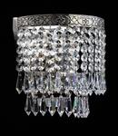 Aplica Diamant Crystal Fabric,1 x E27, 230V, D.18cm,H.18 cm,Nichel