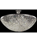 Candelabru Diamant Crystal Fabric,8 becuri dulie E27, 230V,L.50cm, H.29 cm,Nichel