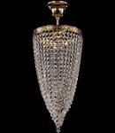 Candelabru Diamant Crystal Fabric,1 bec dulie E27, 230V,D.20cm, H.51 cm,Auriu