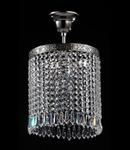 Lustra Diamant Crystal Sfera,1 bec dulie E27, 230V,D.20cm, H.31 cm,Nichel