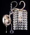 Aplica Diamant Crystal Fabric,1 x E27, 230V, D.12cm,H.21 cm,Auriu