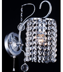 Aplica Diamant Crystal Fabric,1 x E27, 230V, D.12cm,H.21 cm,Nichel