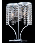Veioza Diamant Crystal Toils 2 becuri,dulie E14,230V,Diam. 40cm ,H36cm,Nichel