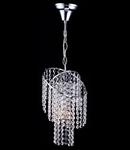 Candelabru Diamant Crystal Picolla,1 bec dulie E27, 230V,D.17cm, H.70 cm,Nichel
