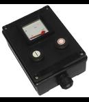 Dispozitiv de comanda antiex cu ampermetru si butoane start/stop