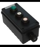 Dispozitiv de comanda antiex cu butoane start/stop si lampa
