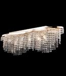 Candelabru Diamant Crystal Toils,7 bec dulie E14, 230V,D.93cm, H.28 cm,Auriu