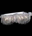 Candelabru Diamant Crystal Toils,7 bec dulie E14, 230V,D.93cm, H.28 cm,Nichel