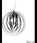 Corp de iluminat LED suspendat Negru Disco