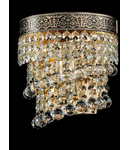 Aplica Diamant Crystal Twister,1 x E14, 230V, D.17cm,H.19 cm,Auriu