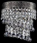 Aplica Diamant Crystal Twister,1 x E14, 230V, D.17cm,H.19 cm,Nichel