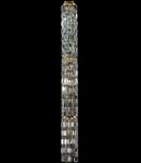 Candelabru Diamant Crystal Niagara,12 becuri dulie E14, 230V,D.27cm, H.250 cm,Auriu
