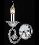 Aplica Diamant Crystal Amore,1 x E14, 230V, D.12cm,H.20 cm,Nichel