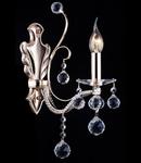 Aplica Diamant Crystal Marlin,1 x E14, 230V, D.11cm,H.38 cm,Auriu