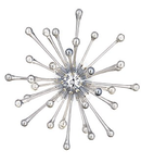 Corp de iluminat suspendat din sticla suflata si profilata manual cu elemente decorative albe