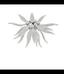Corp de iluminat lucrat manual cu sticla suflata si elemente decorative alb 800