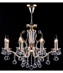 Candelabru Diamant Crystal Marlin,8 becuri dulie E14, 230V,D.72cm, H.83 cm,Auriu