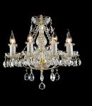 Candelabru Diamant Crystal Elegia,8 becuri dulie E14, 230V,D.53cm, H.50 cm,Auriu