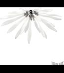 Corp de iluminat sferic lucrat manual cu elemente decorative din sticla 6x40W