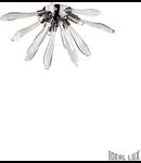Corp de iluminat sferic lucrat manual cu elemente decorative din sticla 3x40W