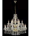 Candelabru Diamant Crystal Beatrix,21 becuri dulie E14, 230V,D.88cm, H.80 cm,Alb